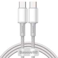 Кабель Baseus High Density Braided Type-C 100W 1м Белый