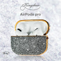 Чехол Kingxbar Crystal Fabric для Apple AirPods Pro Серебро